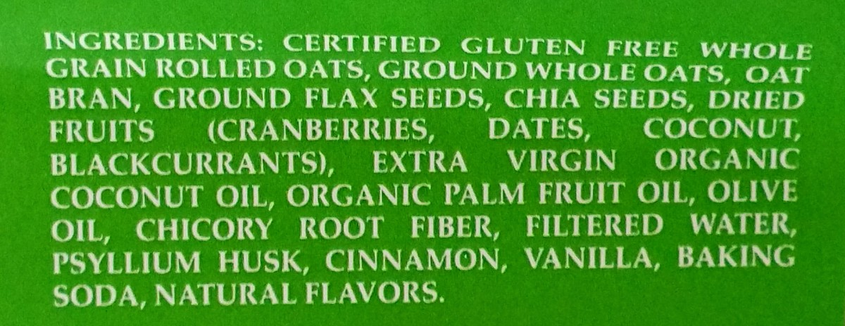 Oatmeal Bites Ingredients