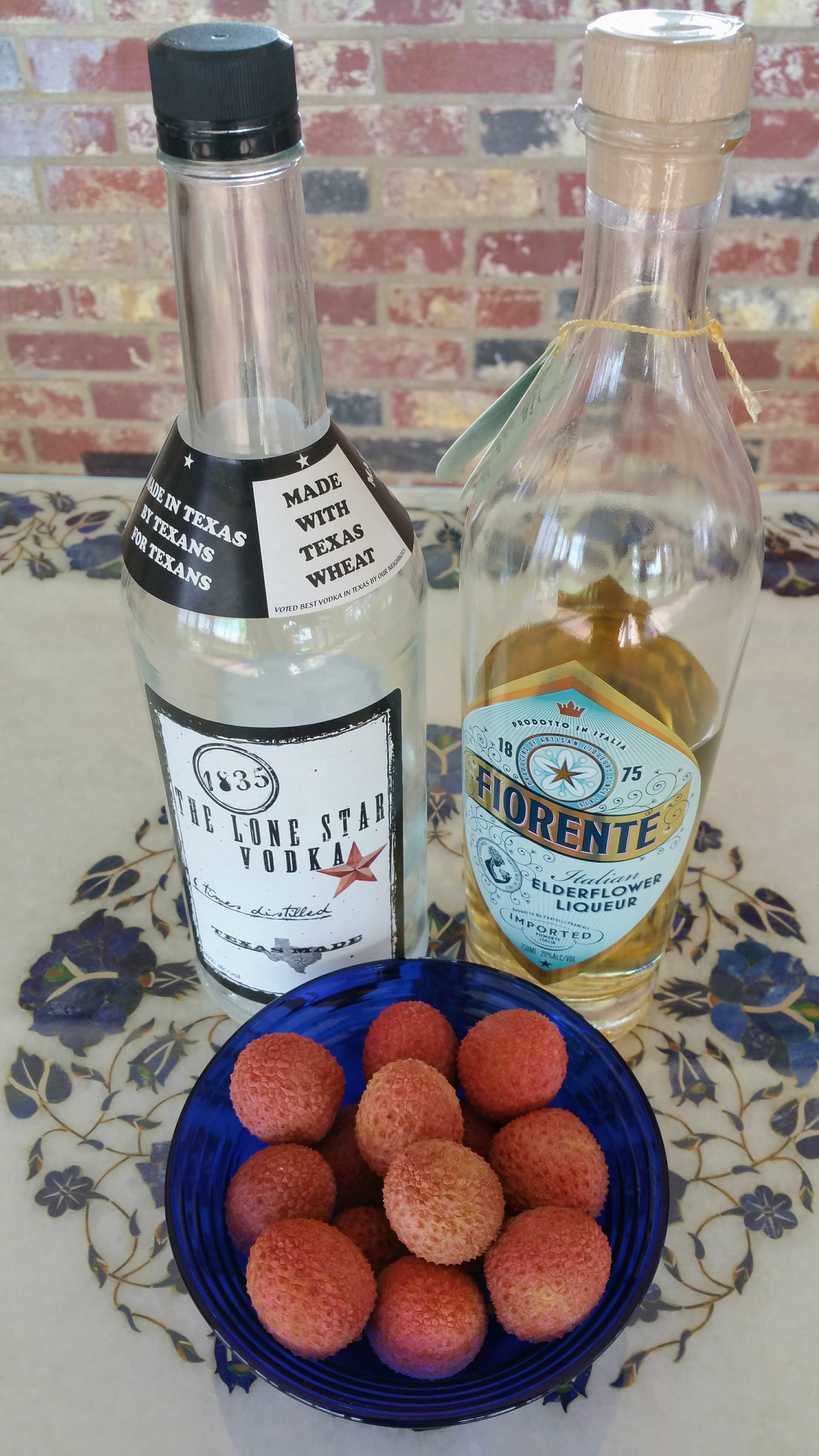 Dirty Lychee Martini Ingredients