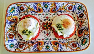 Pesto Eggs Benedict Feature