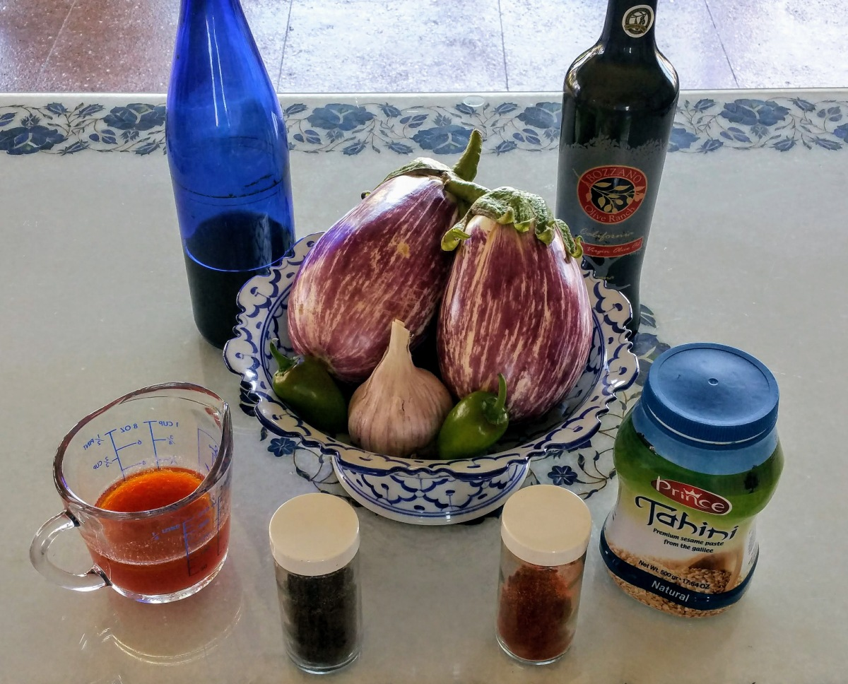 Baba Ganoush Ingredients 1
