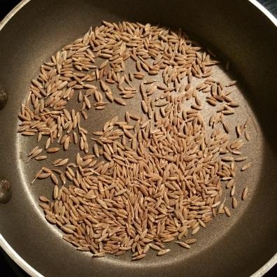 Kachri Toasting Cumin Seeds