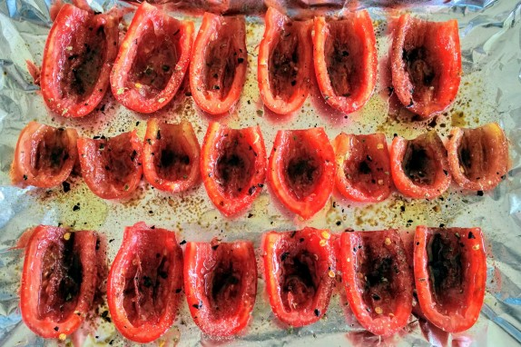 Oven Roasted Roma Tomatoes Prep 2