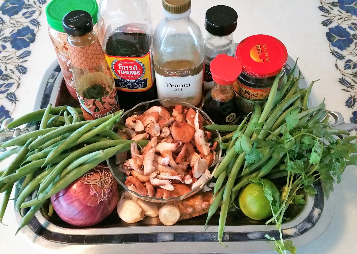 Green Beans & Shiitake Mushrooms Ingredients