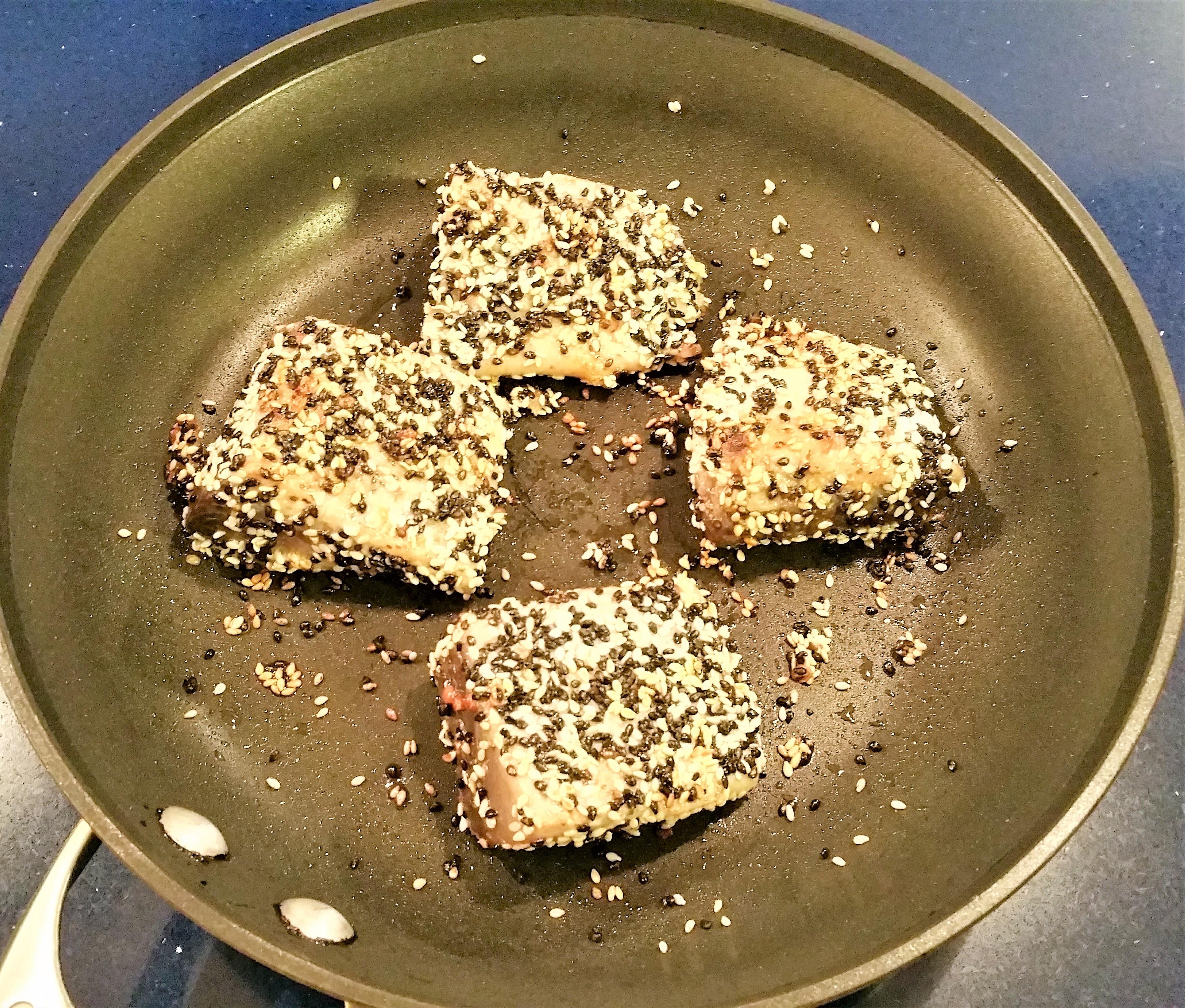 Sesame Crusted Black Fin Tuna Cook