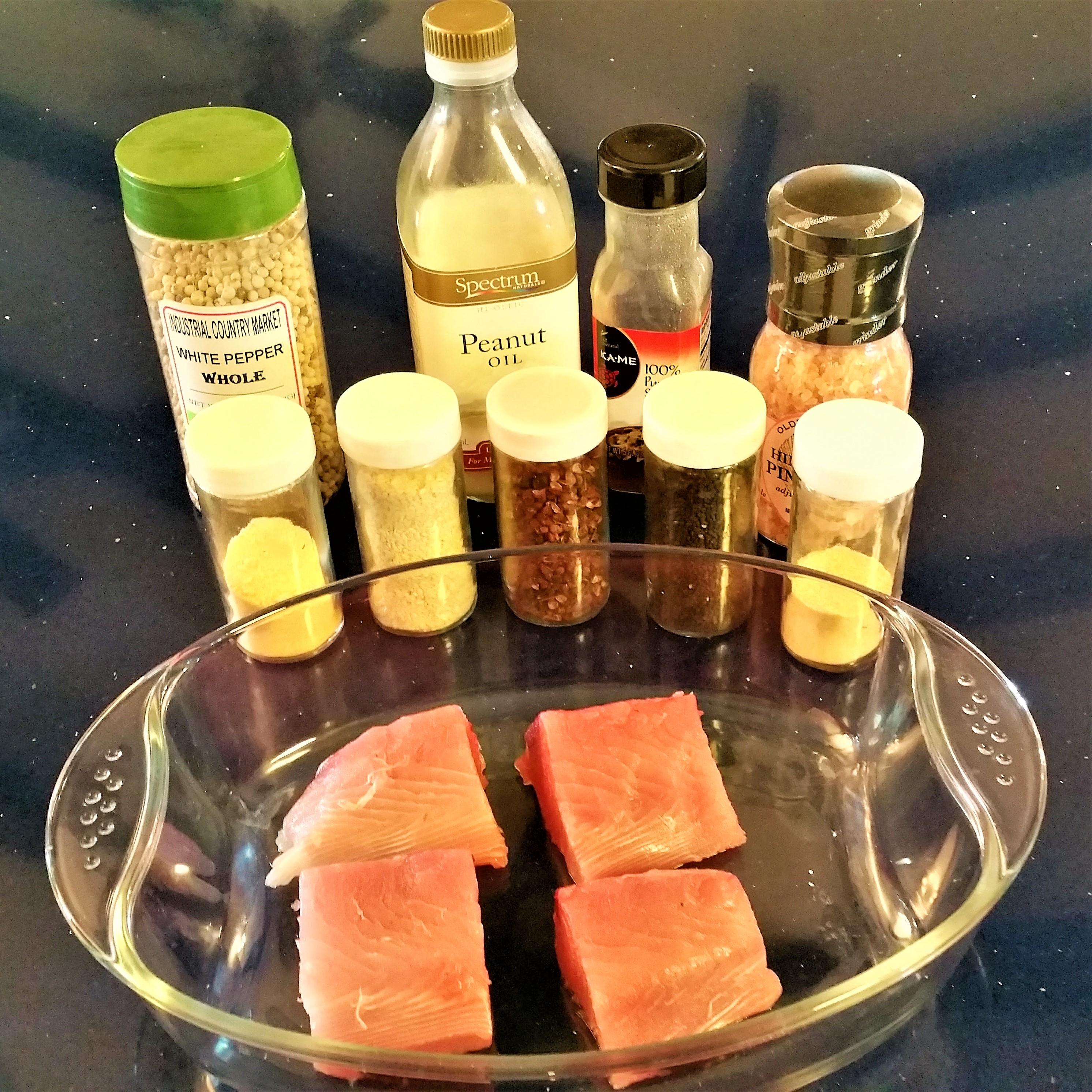 Sesame Crusted Black Fin Tuna Ingredients