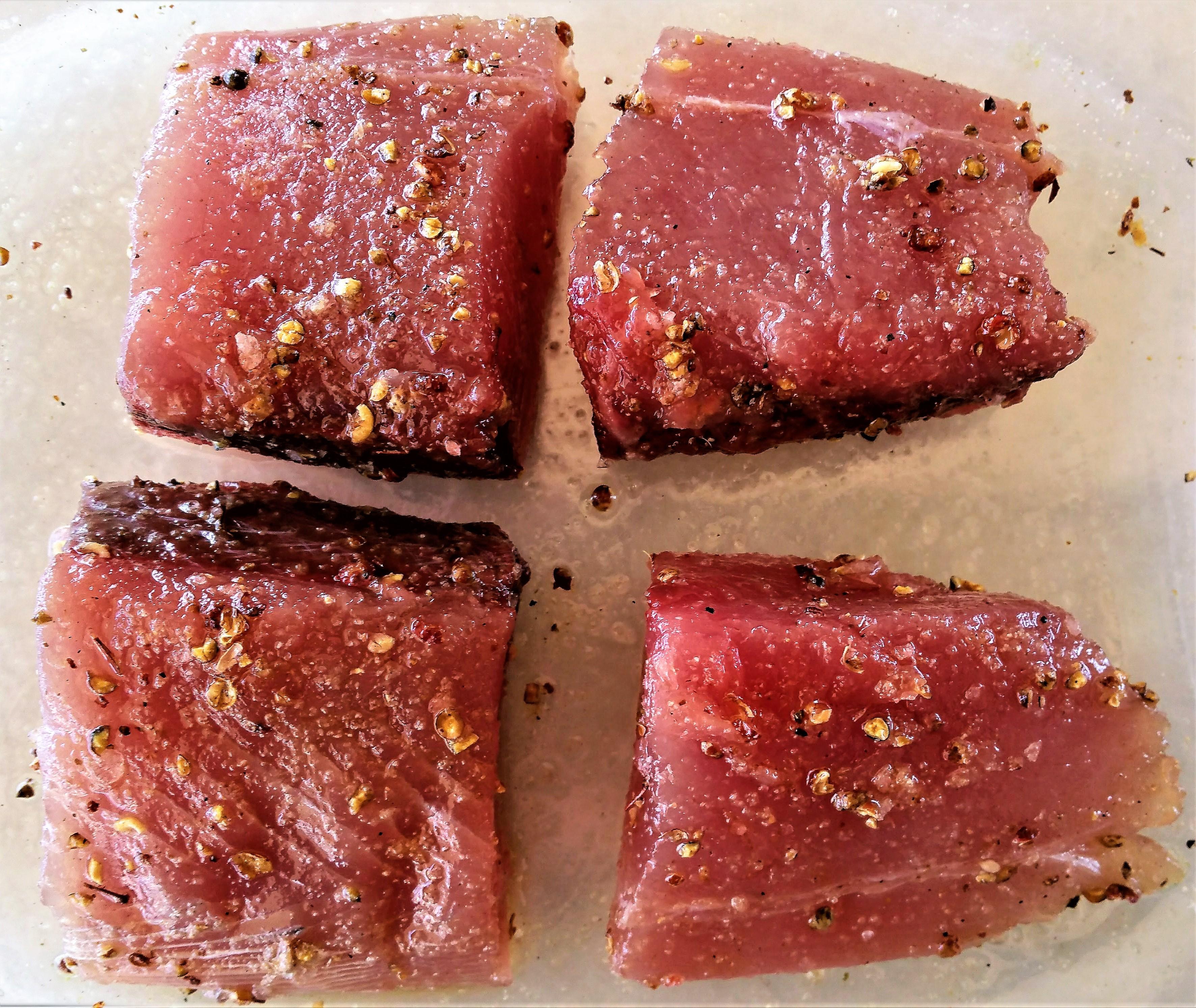 Sesame Crusted Black Fin Tuna Prep