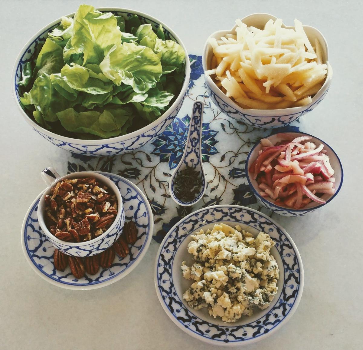 Butter Lettuce Salad Prep