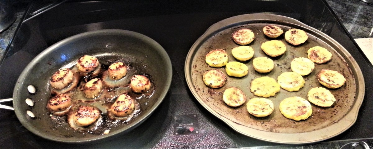 Scallops and Squash Cook