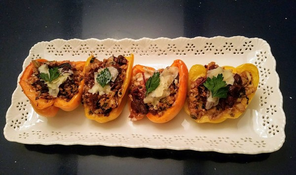 Cauliflower Stuffed Peppers Feature