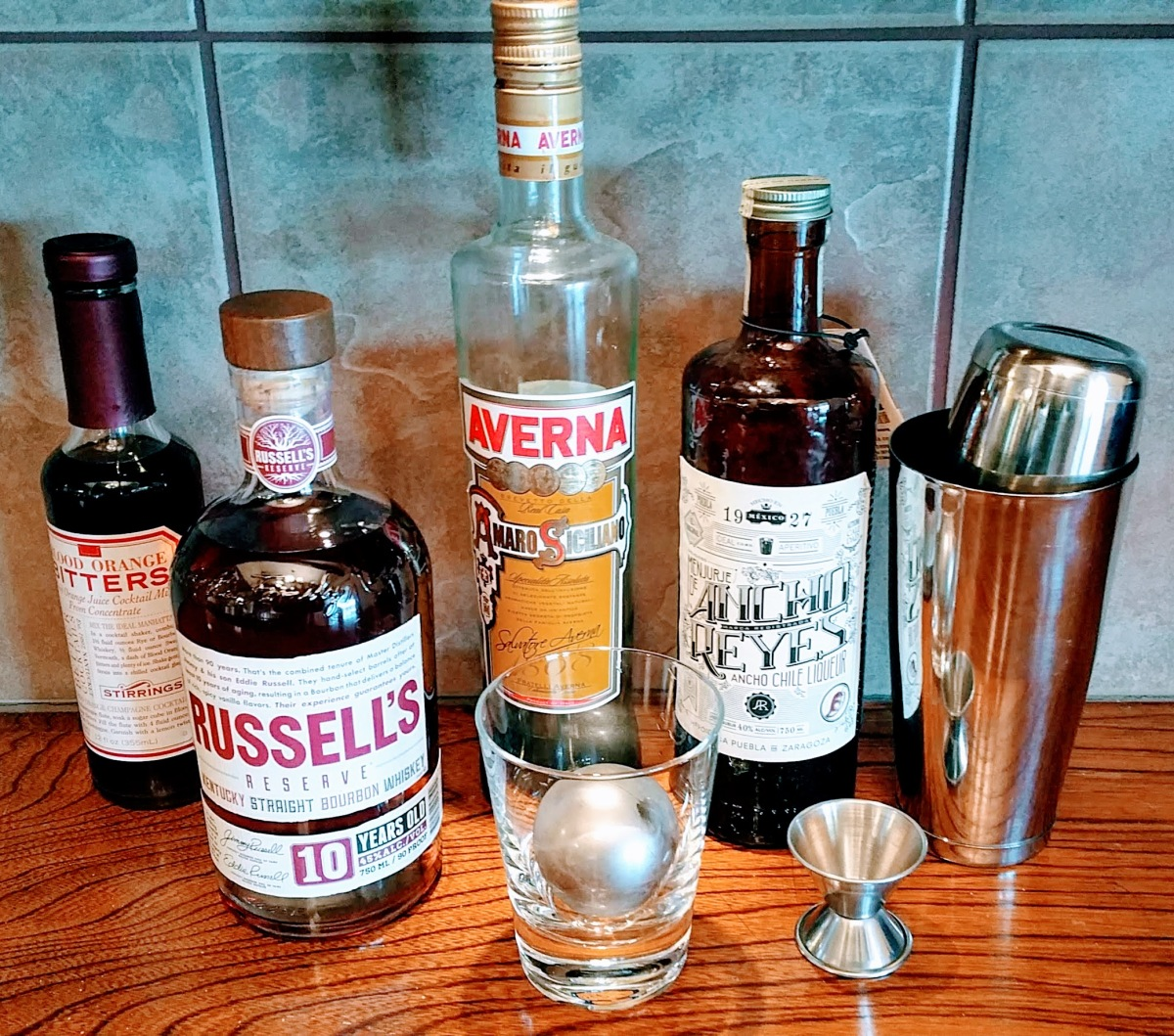 Holiday Spiced Bourbon Ingredients