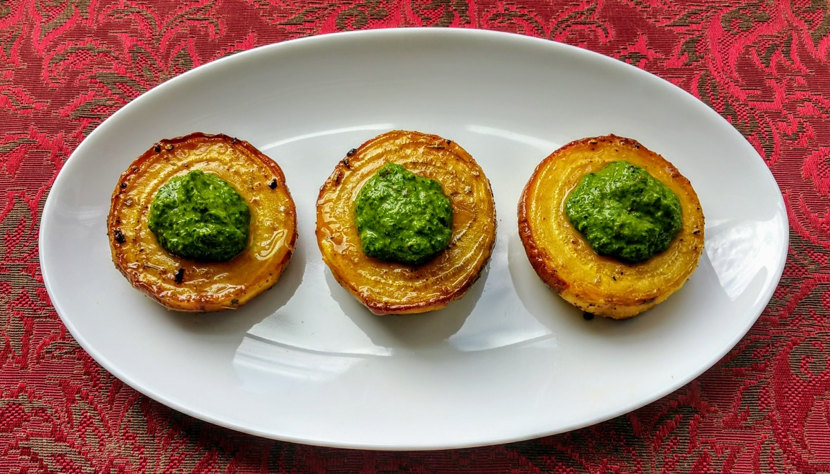 Roasted Golden Beets with Chimichurri Feature