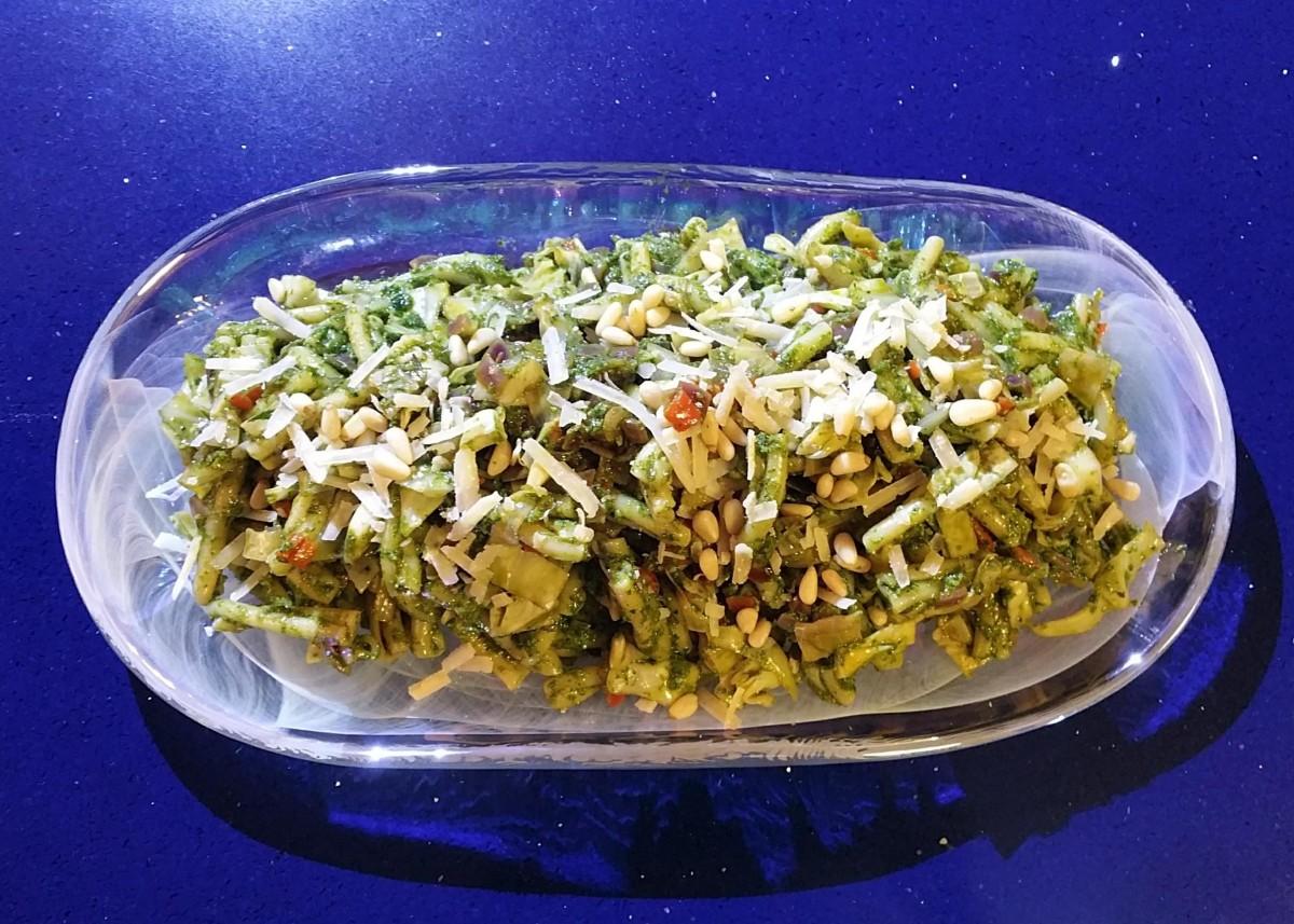 Carrots Tops & Parsley Pesto Pasta Feature