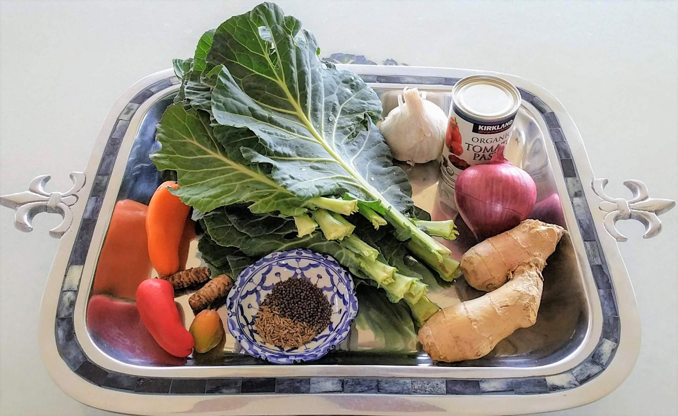 Collard Greens & Chickpea Stew Ingredients