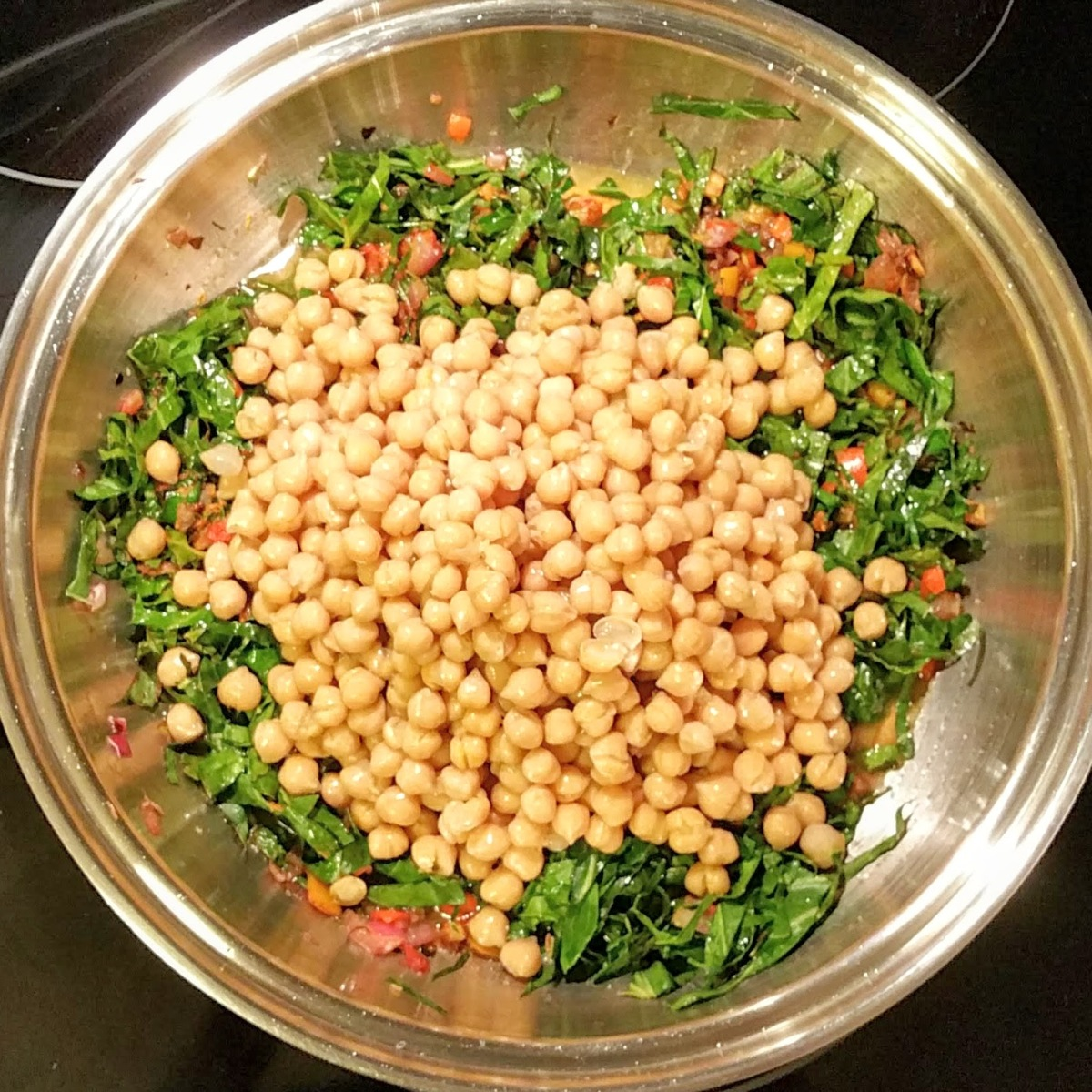 Collard Greens Cook 10 add chickpeas