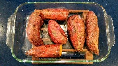 Cooling Roasted Sweet Potatoes