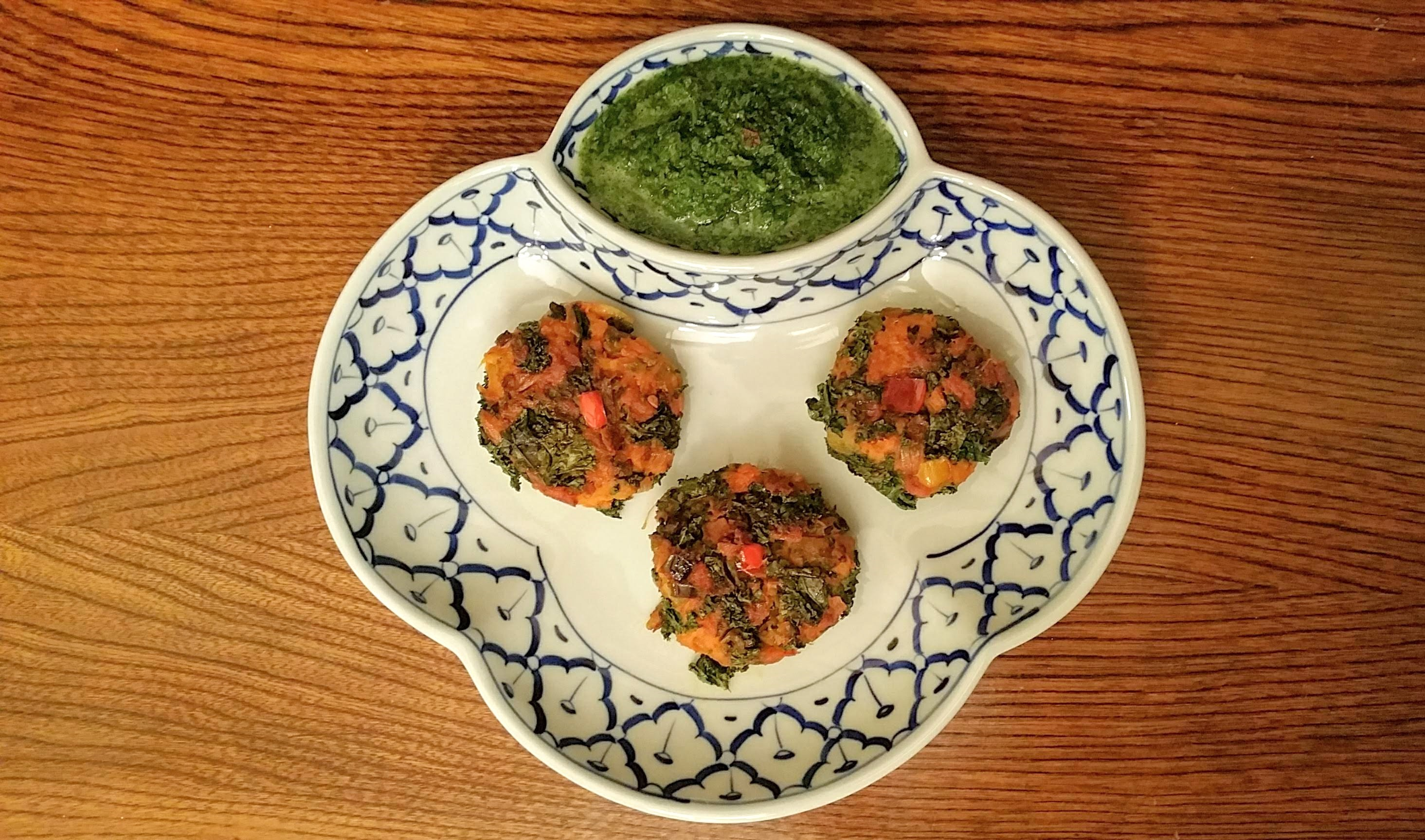 Sweet Potato & Kale Tikkis