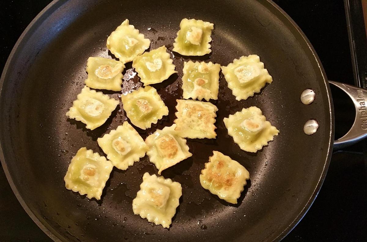 Toasting the Ravioli