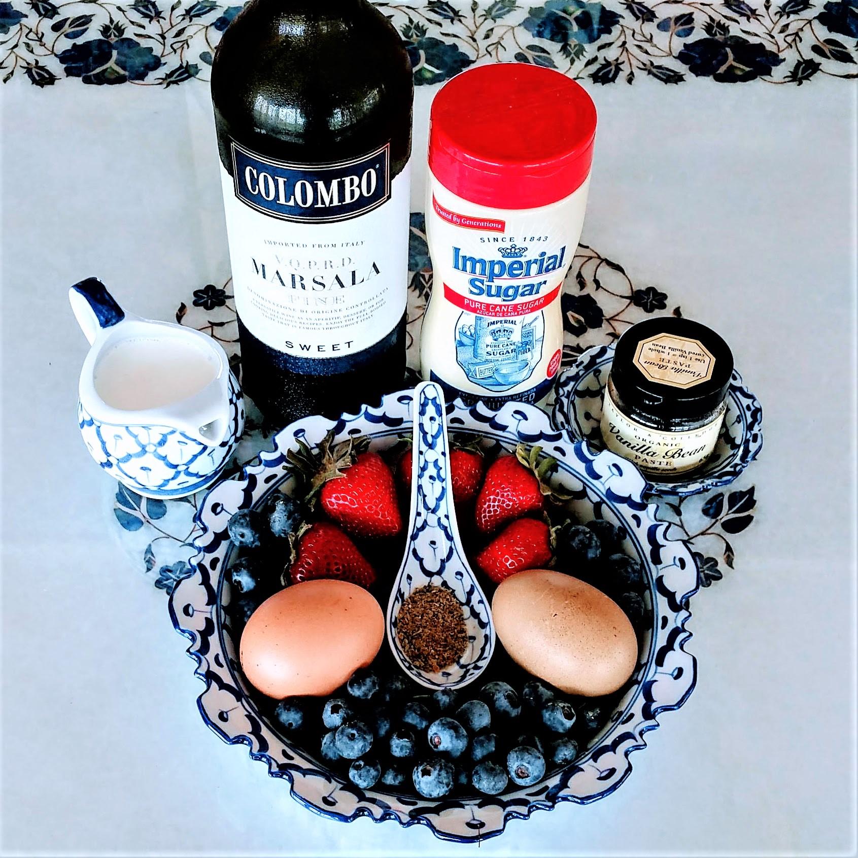 Berries & Fennel Scented Zabaglione Ingredients