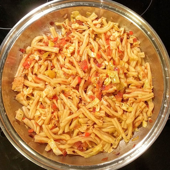 Gemelli Pasta Tossed in the Base