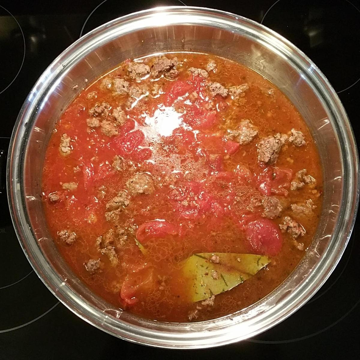 Red Lentil Pasta Cook 4