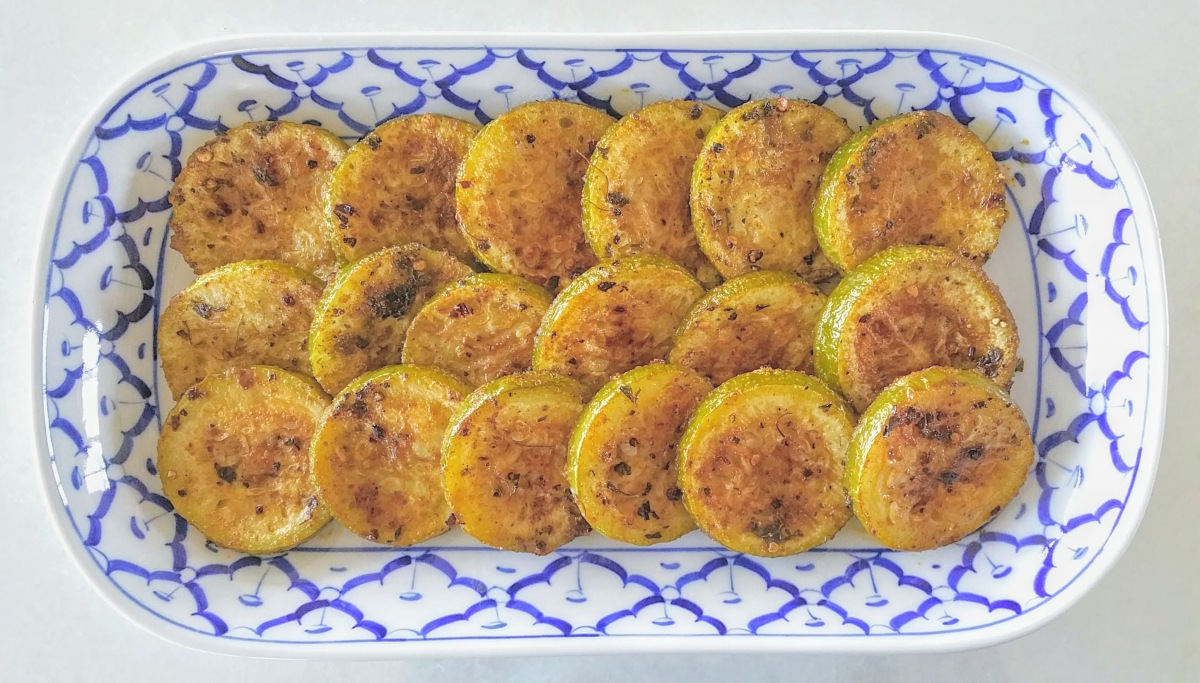 Roasted Bottle Gourd Medallions Feature